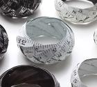 Vintage printed steel tape bangles